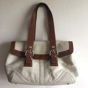 COACH Soho flap F12304 leather satchel purse bag